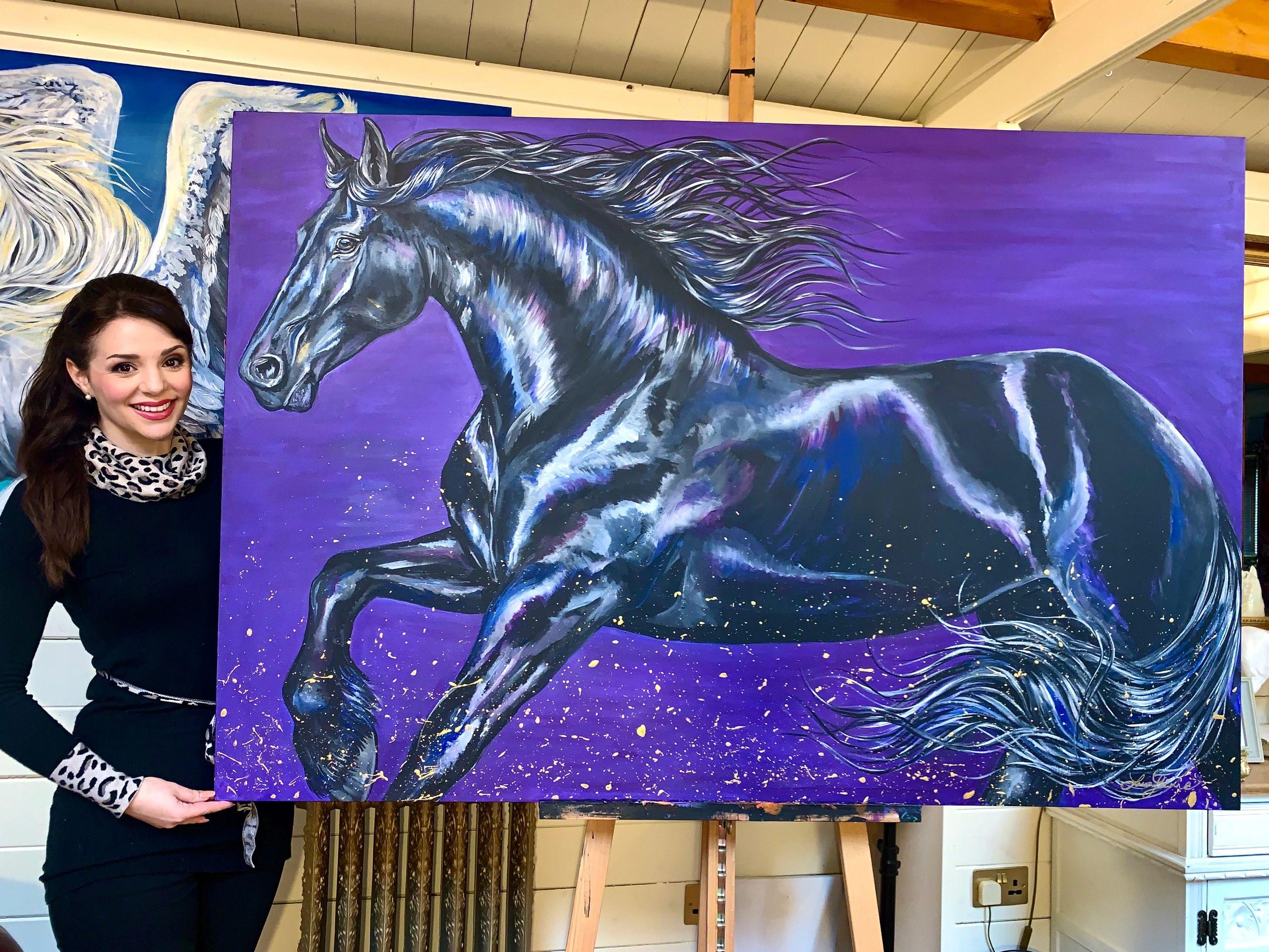 Laura Jeanne Equine Art Equestrian Art Artist