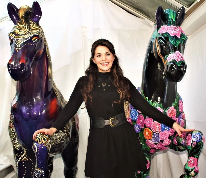 Channel 4 Life Size Painted Horse Sculptures By Laura Jeanne