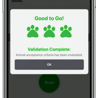 Use the VERFID mobile app to scan VERFID Smart Pet ID Tags to ensure requirements are met.