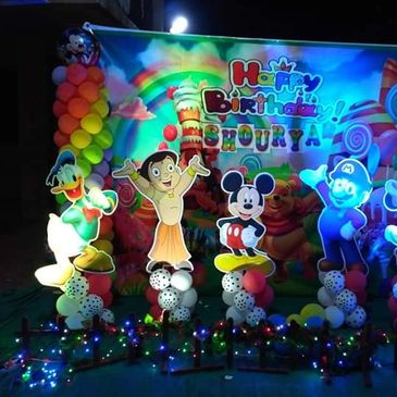 its birthday party planner in delhi & its party setups
