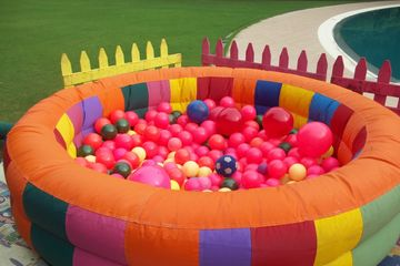ball pool on kids birthday party in our party set ups