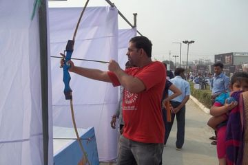 archery game at corporate events