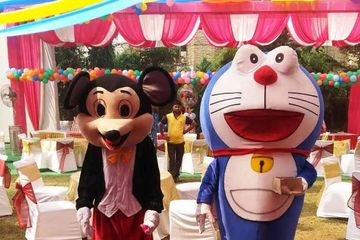mickey &  doremon cheracter in corporate event