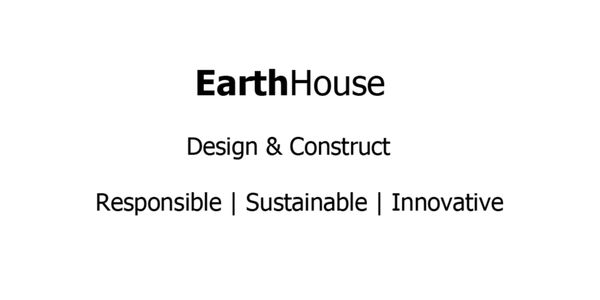 Earth House design and construct logo