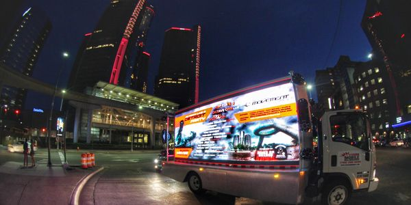 Truck with Movement Festival advertisement using a Chris Ahern Photography image