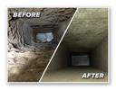 Before and after of air ducts.