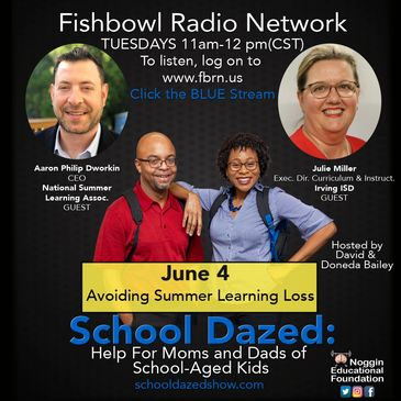 Promotional flyer for podcast, School Dazed, about avoid summer learning loss.