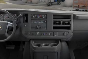 Interior of Chevrolet Express Cutaway Parcel Delivery FedEx Van