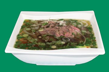 Most popular standard Beef Pho served with Eye round Beef & Brisket in authentic beef bone broth.