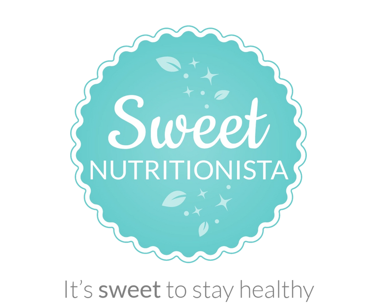 Sweet Nutritionista logo with tagline 'Its sweet to stay healthy""