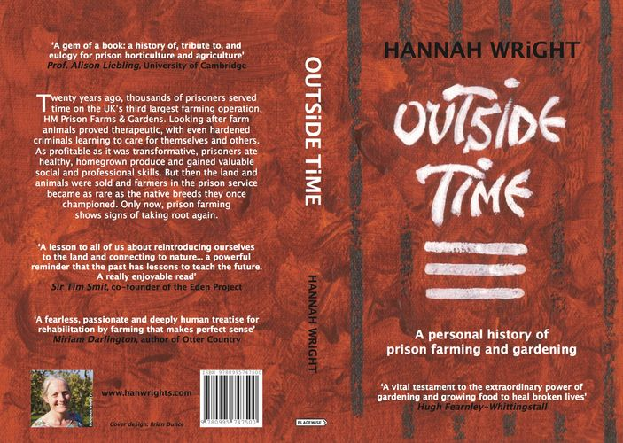 Red cover book Outside Time by Hannah Wright Hugh Fearnley-Whittingstall food farming gardening