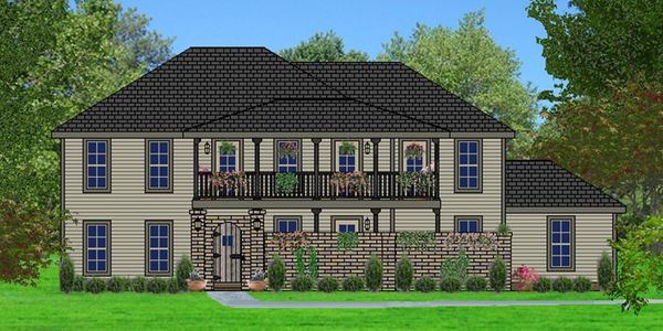 Tuscan style home with Front Courtyard The Antella XXVI Elevation E-HR-2