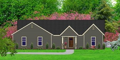 Affordable Craftsman Home Design Appletowne IX with Front Garage