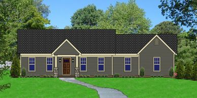Beautiful Affordable, low maintenance, one level Craftsman Home.  The Bowmantowne XII