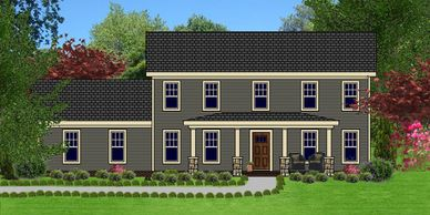 Affordable, low maintenance Craftsman Home Design Charlestowne XIV with Double Garage