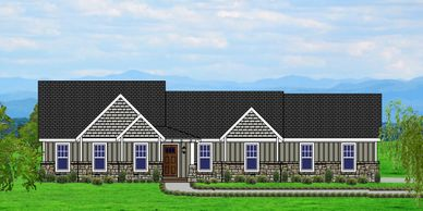 Beautiful Affordable, low maintenance, one level Craftsman Home.  The Edgefield-Towne X-P with Side Garage