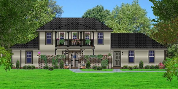 Tuscan style home with Front Courtyard The Florentine IV-HB with Double Garage Elevation D-HR-1