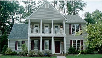 Classic home design with a double porch off of master bedroom Gadsden VII