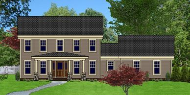 Craftsman Home Design Georgetowne IX-K-HB with Bath Option C & Side Garage