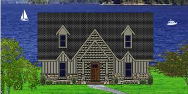 Beautiful Craftsman Home designed for a view.  The Lake Johns-Alpine VIII