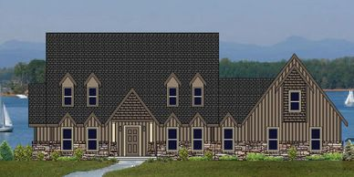 Beautiful Craftsman Home designed for a view  Lakeland-Alpine XVIII with Side Garage