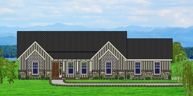 Beautiful Affordable, low maintenance, one level Craftsman Home.  The Mannington-Towne VI-P with Side Garage