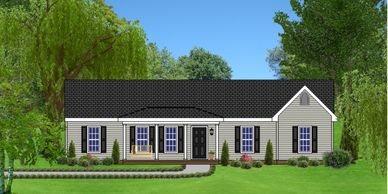 Southern Colonial one level home design. The Monetta V
