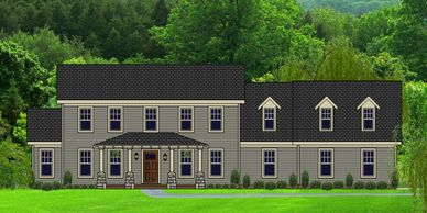 Beautiful Craftsman Home designed for a view New Bedfordtowne-Lake XXII-L with Side Garage