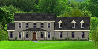 Beautiful Craftsman Home.  The New Bedfordtowne XXIII with Bath Option C & Side Garage