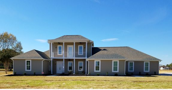 Tuscan style home with double front porch The Roselle XVII with Double Garage Elevation D-HR