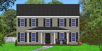 Southern Colonial home design. The St. George VI
