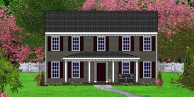 Southern Colonial home design. The St. George XII