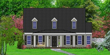 Southern Colonial home design. The St. John VII