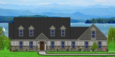 Beautiful Craftsman Home designed for a view  Summerton-Alpine XXX with Side Garage
