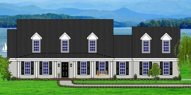 Home designed for a lake or mountain view Summerville-Lake XXV with Side Garage