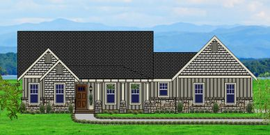 Beautiful Craftsman Home designed for a view Vermont-towne X with Garage