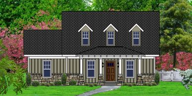 Affordable, Craftsman Home Design Waverly-Towne III-HB