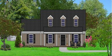 Southern Colonial home design. The Waverly III