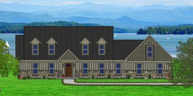 Beautiful Craftsman Home designed for a view  Summerton-Alpine XXV with Double Garage