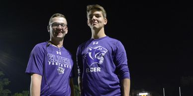 Elder high school students photo at football game in October 2019 by M.D. Pitman in Cincinnati Ohio