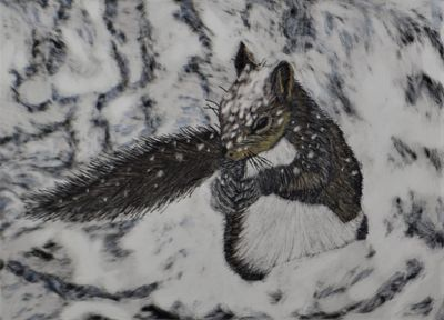Brrr! It's Cold, Scratch Art by Sharon Barnes