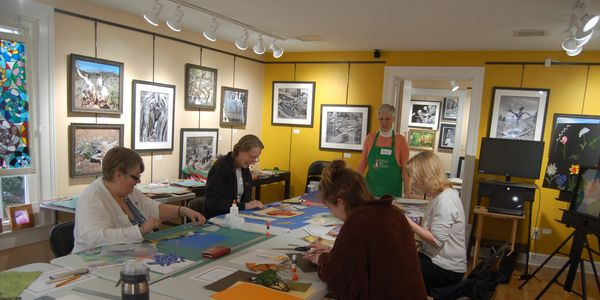 Collage workshop at the Gallery