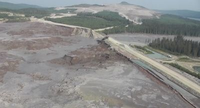 Mt. Polley tailings pond breach in British Columbia  that  emptied into a river with salmon.