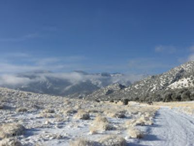 A winter view of the proposed mining areas.
