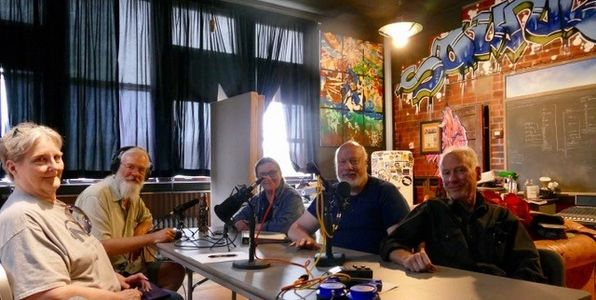 In SoundColor Studios l-to-r: Cynthia Hills, Stuart Nelson, Dixie Hart, Nelson King, and Jerry Cole