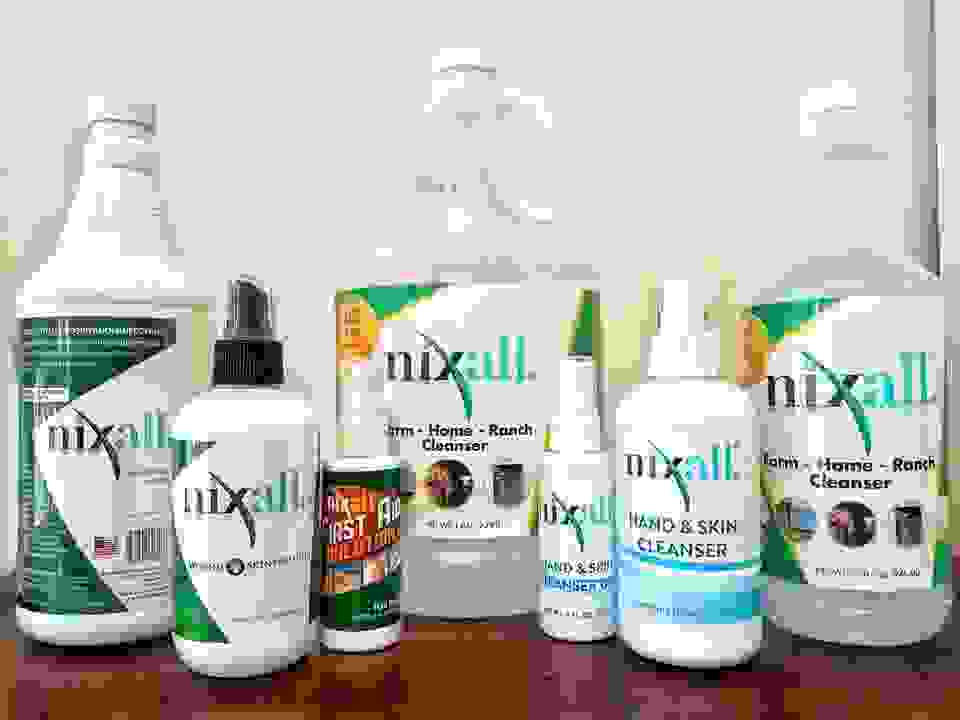 nixall sanitizer and nixall cleanser