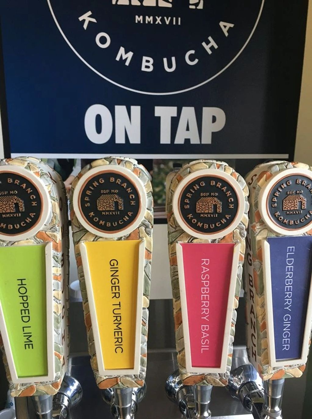 Local brewed kombucha on tap