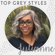 Grey style wig with beach wave curls