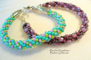 beaded kumihimo at buttercup beads