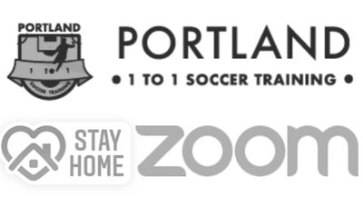 Zoom Meeting, Online Soccer Training. Portland 1 to 1 training